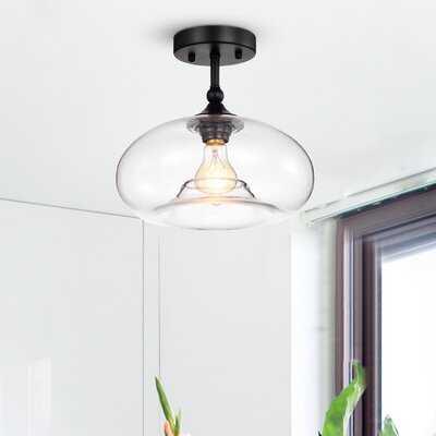 Hamann 1-Light Semi Flush Mount - Wayfair
