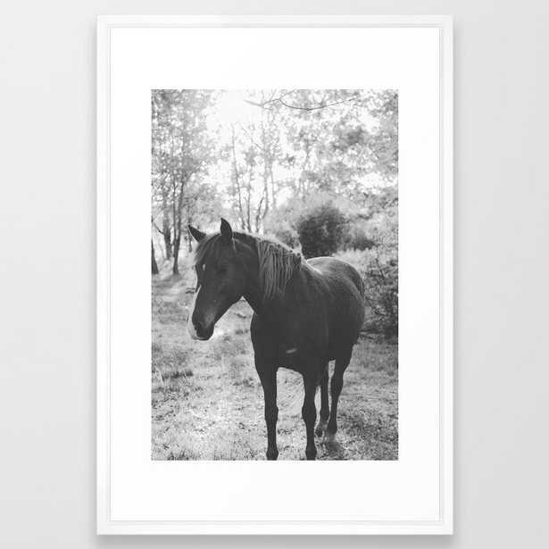 Horse Vi _ Photography Framed Art Print by Florent Bodart / Speakerine - Vector White - LARGE (Gallery)-26x38 - Society6