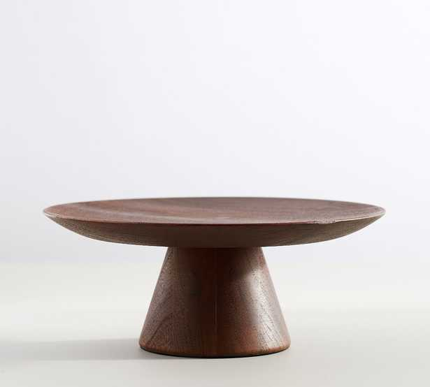 Chateau Wood Cake Stand - Dark Brown - Pottery Barn