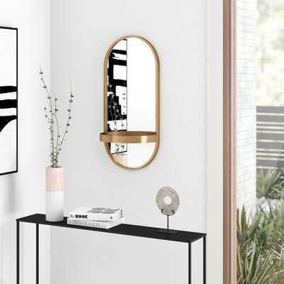 Ernst Accent Mirror with Shelf - AllModern