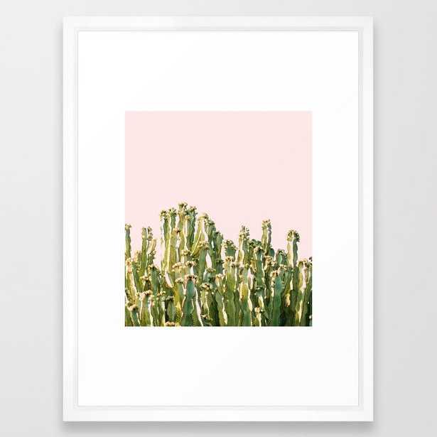 Cactus Blush #society6 #decor #buyart Framed Art Print by 83 Orangesa(r) Art Shop - Vector White - MEDIUM (Gallery)-20x26 - Society6