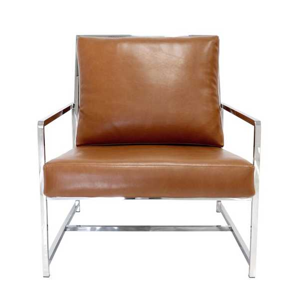 Armchair Upholstery Color: Brown - Perigold