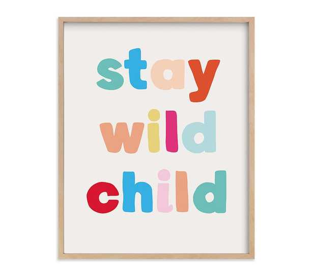 Minted(R) My Type Wild Child Wall Art by Creo Study, 16x20, Natural - Pottery Barn Kids