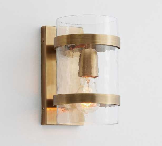 Laurel Glass Sconce, Antique Brass - Pottery Barn