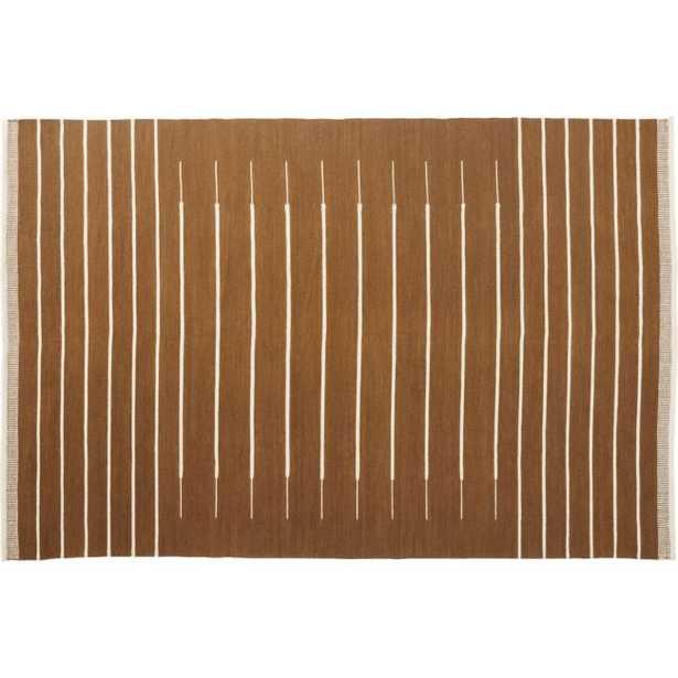 Copper with White Stripe Rug 6'x9' - CB2