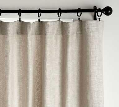 "Basketweave Slub Curtain, 50 x 108"", Oatmeal - Pottery Barn"