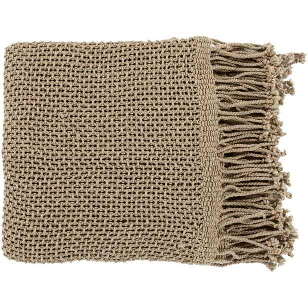 Faxan Tan Cotton Throw, Browns/Tans - Home Depot