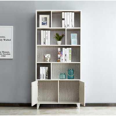 Rathore Geometric Bookcase - Wayfair
