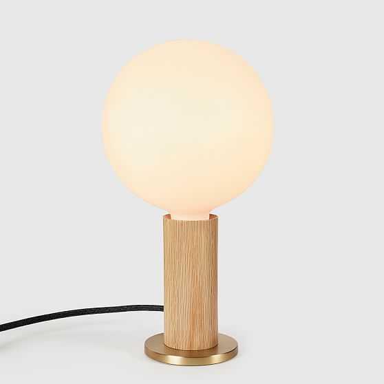 Tala Light Wood Knuckle Table Lamp With Sphere IV Bulb - West Elm
