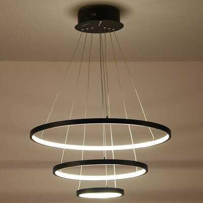 Dyal 3-Light Unique / Statement Tiered LED Chandelier - Wayfair
