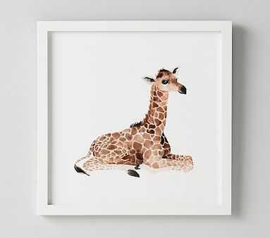 Giraffe Nursery Animal Art - Pottery Barn Kids