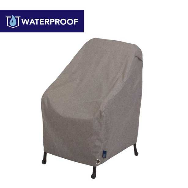 ALLEN COMPANY Garrison Waterproof Outdoor Patio Chair Cover, 27 in. W x 34 in. D x 31 in. H, Heather Gray, Neutral gray color matches most homes and - Home Depot
