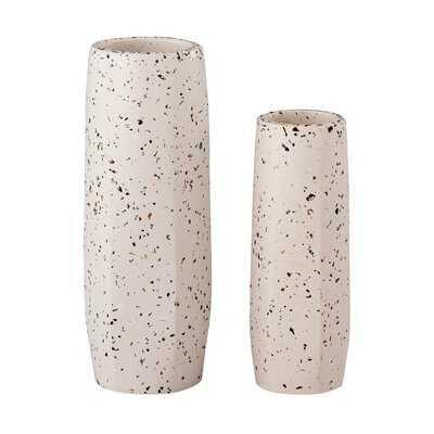 Bay White Concrete Table Vase - AllModern