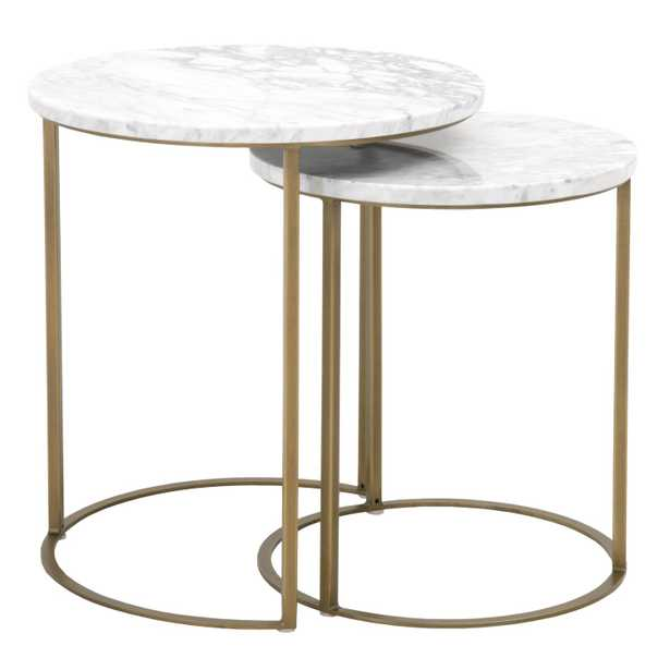 Carrera Round Nesting Accent Table - Alder House