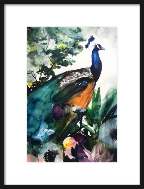 Peacock Garden by Christine Lindstrom for Artfully Walls - Artfully Walls