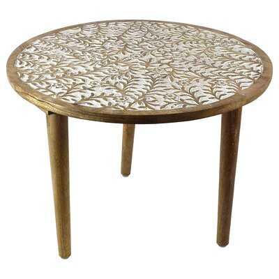 Tyann Round Wooden End Table - Wayfair