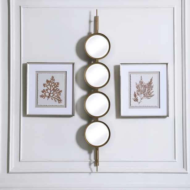 Button Gold Mirror - Hudsonhill Foundry