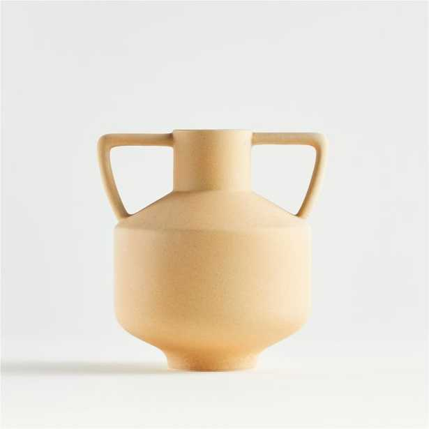 Olcott Small Yellow Vase with Handles - Crate and Barrel