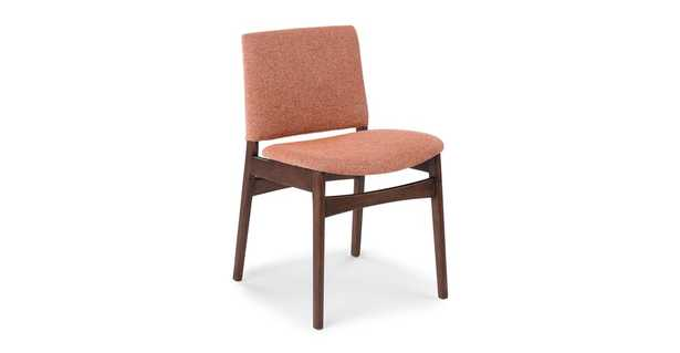 Nosh Rosehip Orange Walnut Dining Chair (SET OF 2) - Article