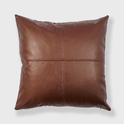 Aksana Square Faux Leather Pillow Cover & Insert - Wayfair