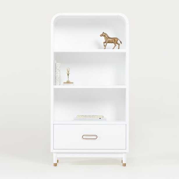 Arlo White Bookcase - Crate and Barrel