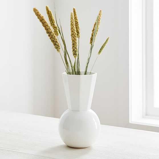 Porcelain Urn Vase, Small, White - West Elm