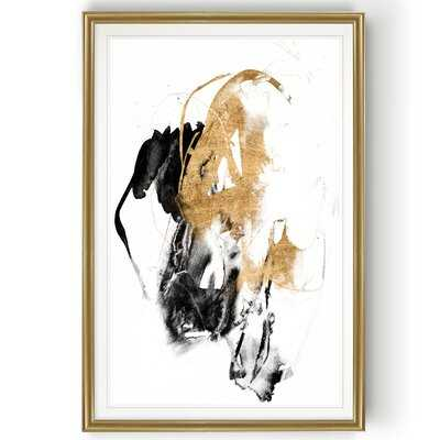 Black/Gold Splash II' Print on Canvas - Wayfair
