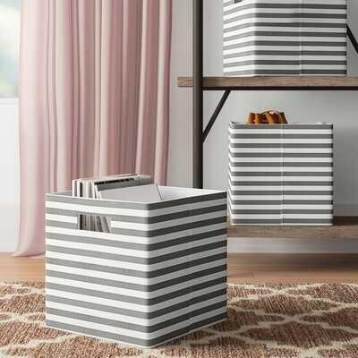 Aevin Pinstripe Fabric Cube - Wayfair