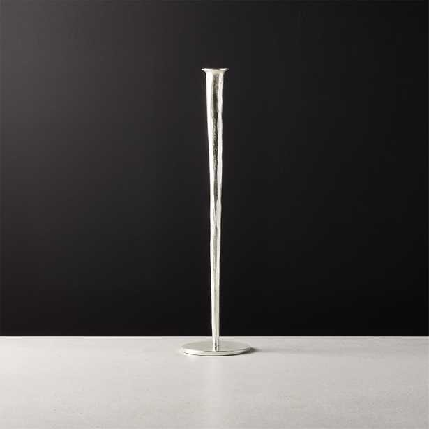 Forged Silver Taper Candle Holder Large - CB2
