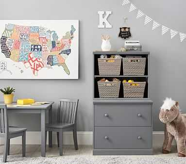 Cameron Bookcase Cubby & Double Drawer Base Set, Chocolate, In-Home Delivery & Assembly - Pottery Barn Kids