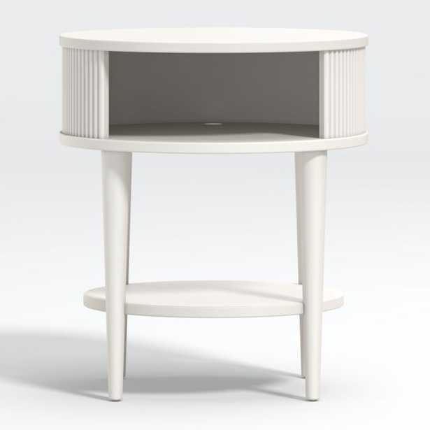 Roselle Round Wood Nighstand - Crate and Barrel