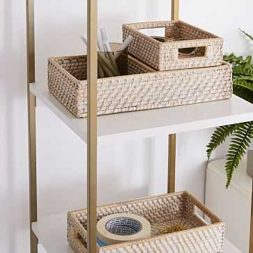 Modern Weave Basket, Whitewashed, Set of 3 - West Elm