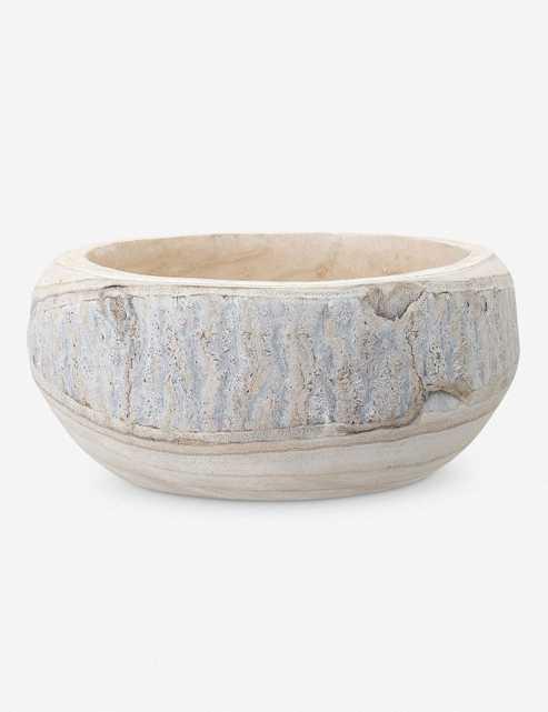 Minne Decorative Bowl, Whitewashed - Lulu and Georgia
