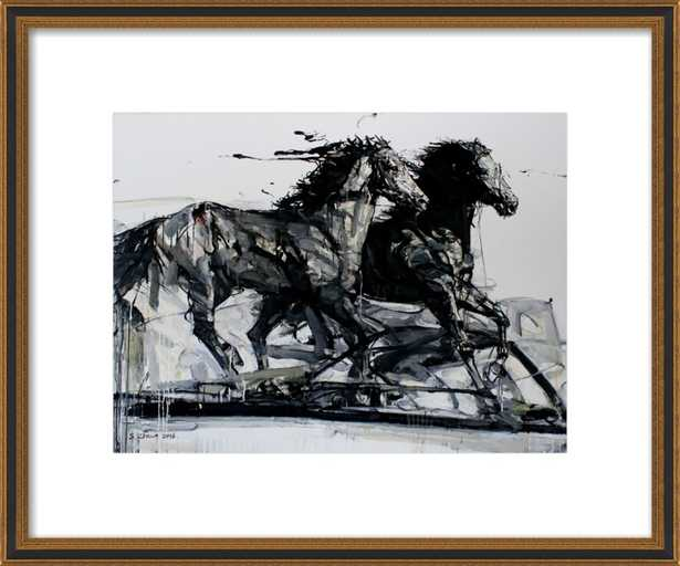 Black Stallions by Shao Y. Zhang for Artfully Walls - Artfully Walls