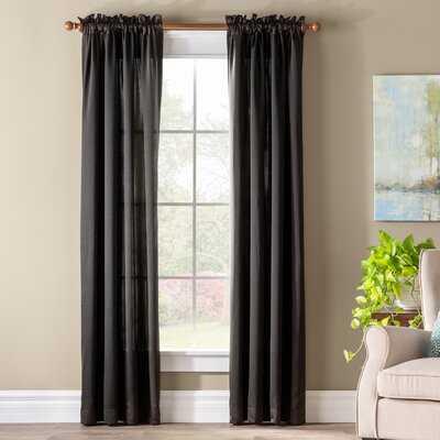 Groton Solid Semi-Sheer Rod Pocket Single Curtain Panel - AllModern