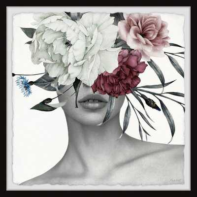Trendy Crown Florals' - Picture Frame Print on Paper - AllModern