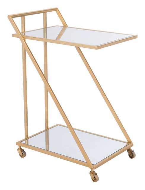 Alto Bar Cart Mirror & Gold - Zuri Studios