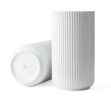 Lyngby White Porcelain Vases, XL - Pottery Barn