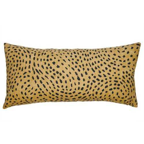 "Square Feathers Kingdom Cheetah Pillow Size: 12"" x 24"" - Perigold"