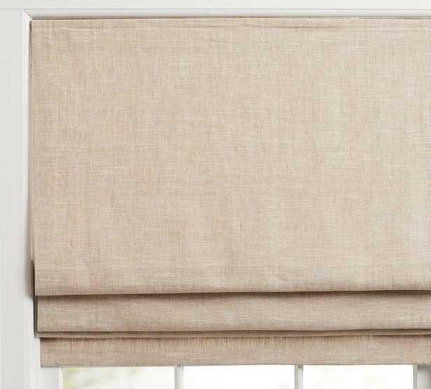 "Emery Linen/Cotton Light Filtering Shade, 36 x 64"", Oatmeal - Pottery Barn"