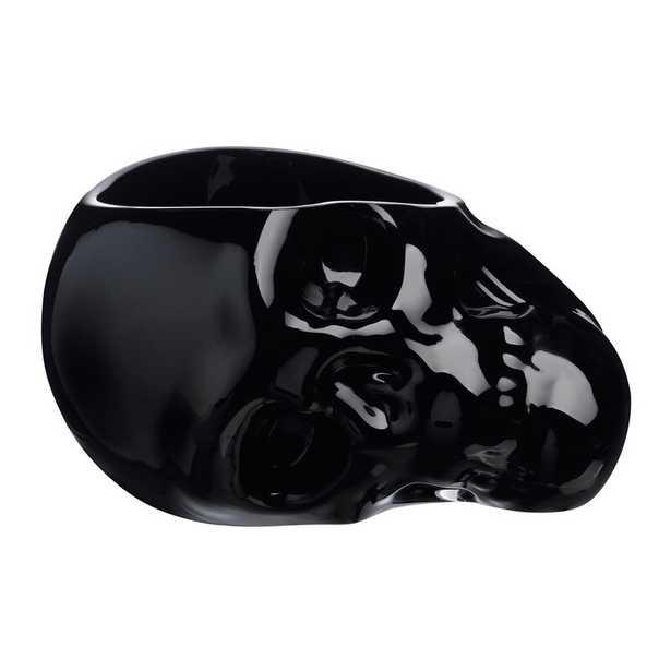 """Nude Memento Mori Skull Decorative Bowl Color: Black, Size: 5.85"""" H x 9.71"""" W x 9.36""""D - Perigold"""