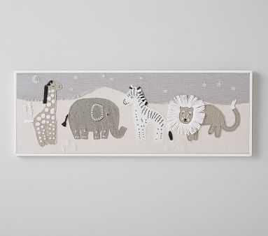 Animals Fabric Applique Art - Pottery Barn Kids