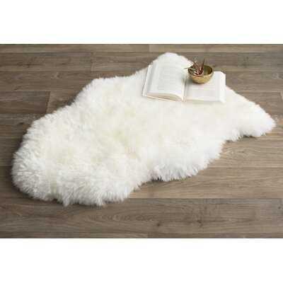 Malone Handmade Sheepskin White Rug - AllModern