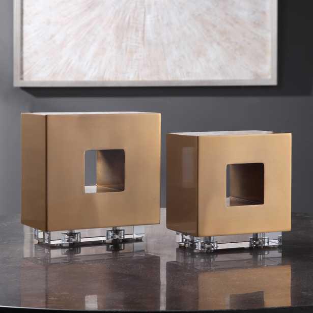 Rooney Brass Cubes, S/2 - Hudsonhill Foundry