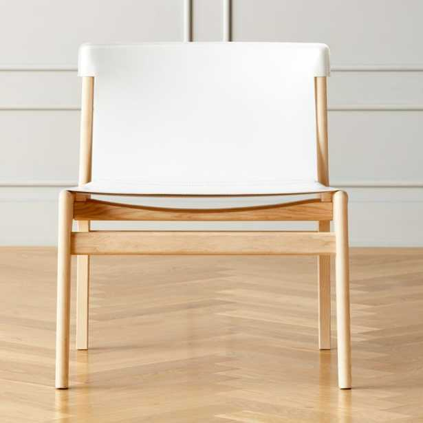 Burano White Leather Lounge Chair - CB2