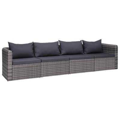 Farbourgh Patio Sofa with Cushions - Wayfair