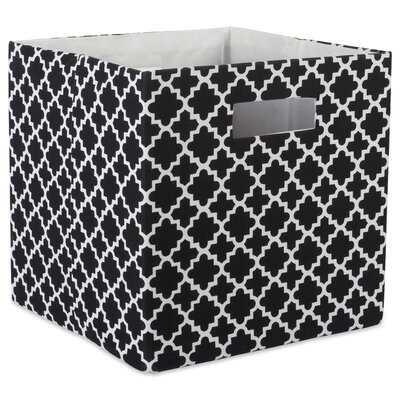 Cube Lattice Square Fabric Polyester Bin - Wayfair