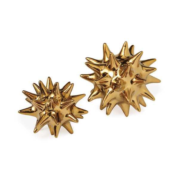 "DwellStudio Bright Gold Urchin 5.5"" x 5.5"" - Lulu and Georgia"
