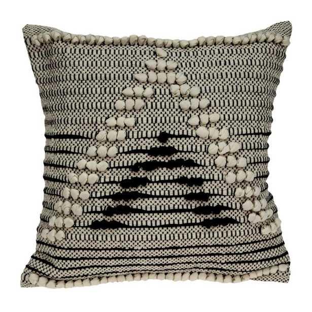 Janice Bohemian Beige Throw Pillow Cover - Home Depot