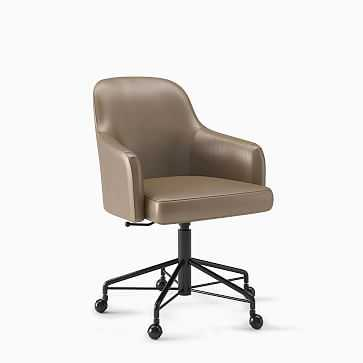 Springhill Suites Saddle Desk Chair - West Elm